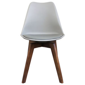 Light Grey Copenhagen Chair With Square Walnut Legs