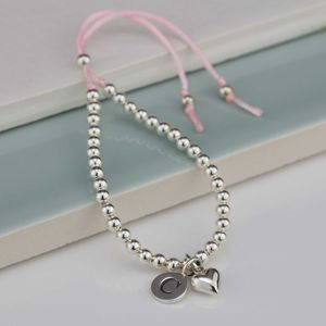 Personalised Children's Silver Friendship Bracelet