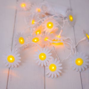 Yellow And White Daisy Fairy Lights