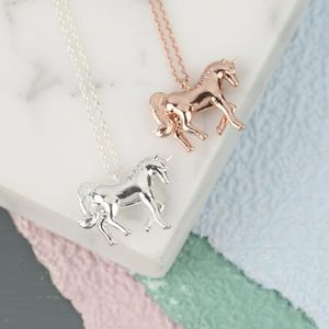 Shiny Unicorn Pendant Necklace - unicorns