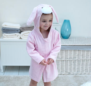 Personalised Rosebud Bunny Children Bath Robe