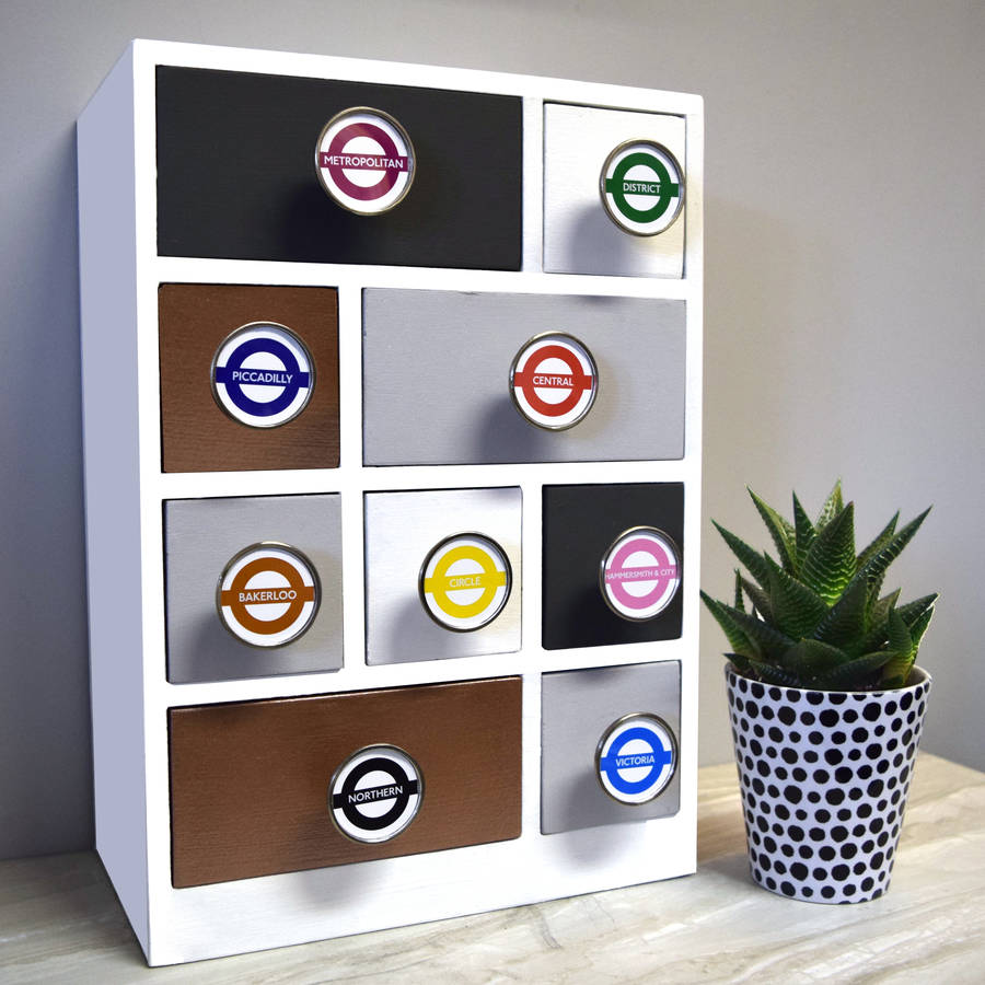 London underground tube line cupboard knobs by pushka home - Bouton de meuble design ...