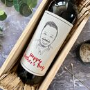 Father's Day Portrait Labelled Wine