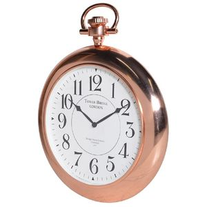 Copper Tower Bridge Wall Clock - living room