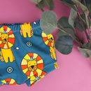 Illustrated 'Circus Lion' Print Baby And Toddler Shorts