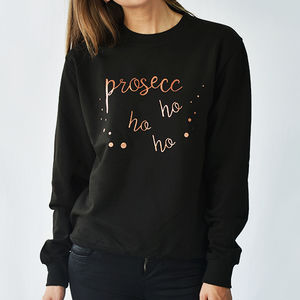 Prosecco Ho Ho Ho Christmas Sweatshirt - women's fashion