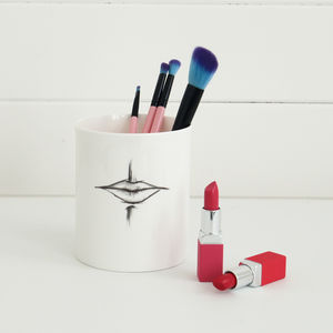 'Smile!' Supersized Make Up Brush Pot