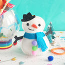 Snowman Decoration Sewing Craft Kit