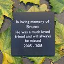 Personalised Pet Hand Crafted Slate Memory Plaque