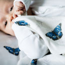 Bamboo Baby Swaddle Butterfly Blanket