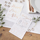 Rose Gold Foiled Advice For The Bride And Groom Cards