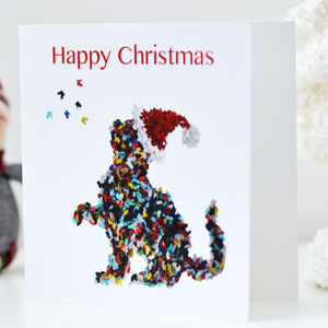 Butterfly Cat Christmas Blank Card - personalised