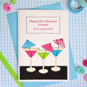 Personalised Hen Weekend Card