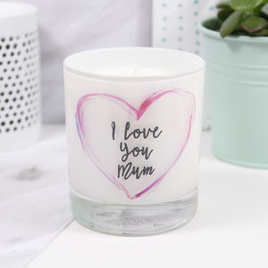 I Love You Mum Mother's Day Luxury Candle - gifts for mothers