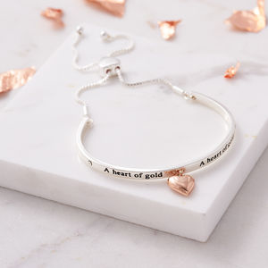 A Heart Of Gold Bracelet - gifts for grandmothers