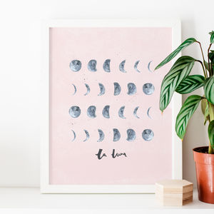 Moon Illustrated Art Print