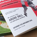 Personalised Arsenal Football Programme - detail