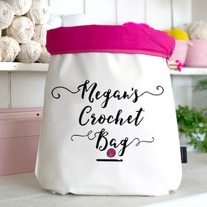 Large Personalised Crochet Bag - knitting kits