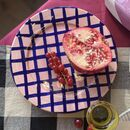 Sweet Me Small Plate Baby Pink And Navy Gingham