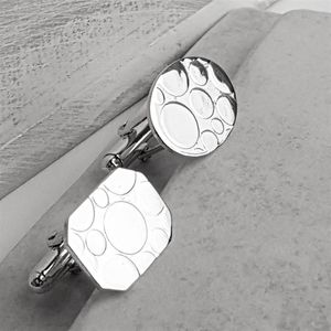 Mismatched Bubble Silver Cufflinks - whatsnew