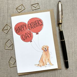 Father's Day Golden Retriever Card