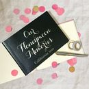 Personalised Honeymoon Memories Book