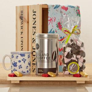 Spode Blue Room Chintz Posy Coffee Gift Hamper