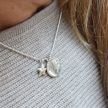 Personalised Constellation Silver Charm Necklace