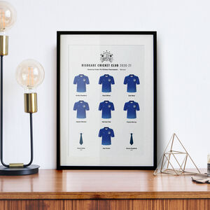 Personalised Junior And Amateur Cricket Team Print