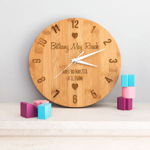 Personalised New Baby Clock Gift - clocks