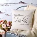 Personalised Wedding Anniversary Cushion Cover