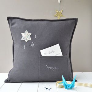 Personalised First Christmas Star Cushion
