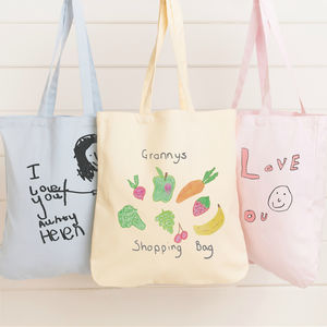 Personalised Bag With Your Child's Drawing - womens