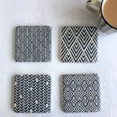 Blue And White Tile Coasters