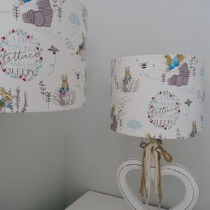 Handmade Lampshade In Beatrix Potter Fabric - lampshades