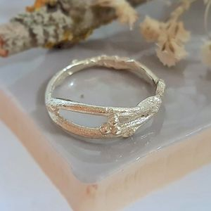 Gold Woodland Twig Wedding Ring
