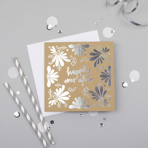 Happily Ever After Silver Foiled Card - anniversary cards