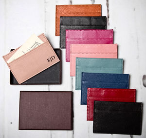 Personalised Leather Card Holder - gifts for fathers