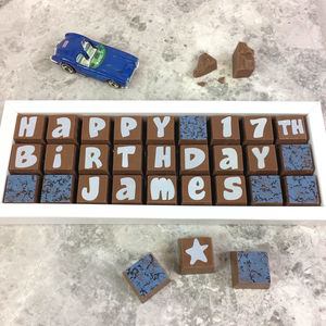 Personalised Birthday Chocolate Gift Box - novelty chocolates