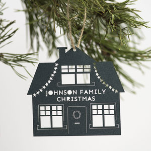 Personalised Family Home Christmas Decoration - best of baubles