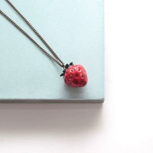 Tiny Strawberry Necklace - necklaces & pendants