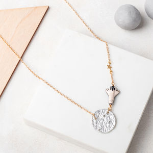 Lunar Landing Moon And Space Shuttle Necklace - necklaces & pendants