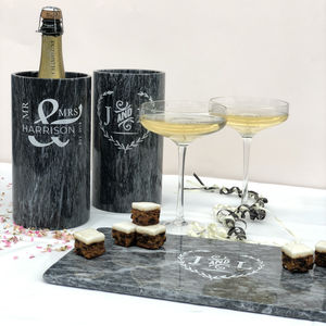 Bespoke Design On Marble Wine Cooler - home wedding gifts