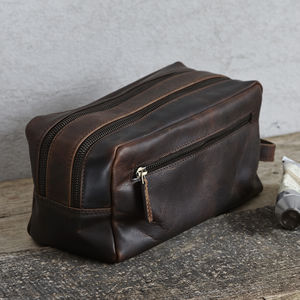 Leather Wash Bag - make-up & wash bags