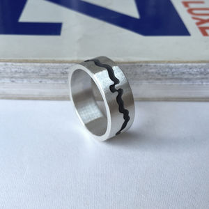 River Thames Cutout Ring - men's jewellery