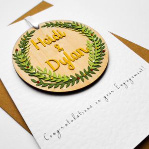'Congratulations On Your Engagement' Keepsake Card