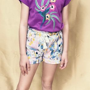 Floral Tassel Shorts - children's shorts