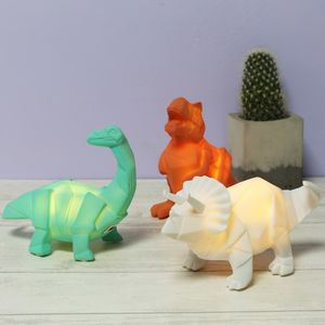 Mini LED Origami Dinosaur Lamp - more
