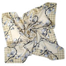 Laughing Soil | Floral Square Silk Scarf