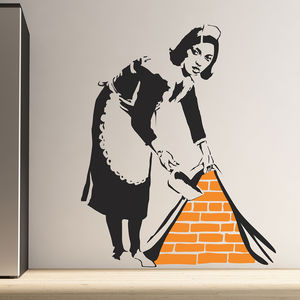 Banksy Maid Wall Stickers - bedroom